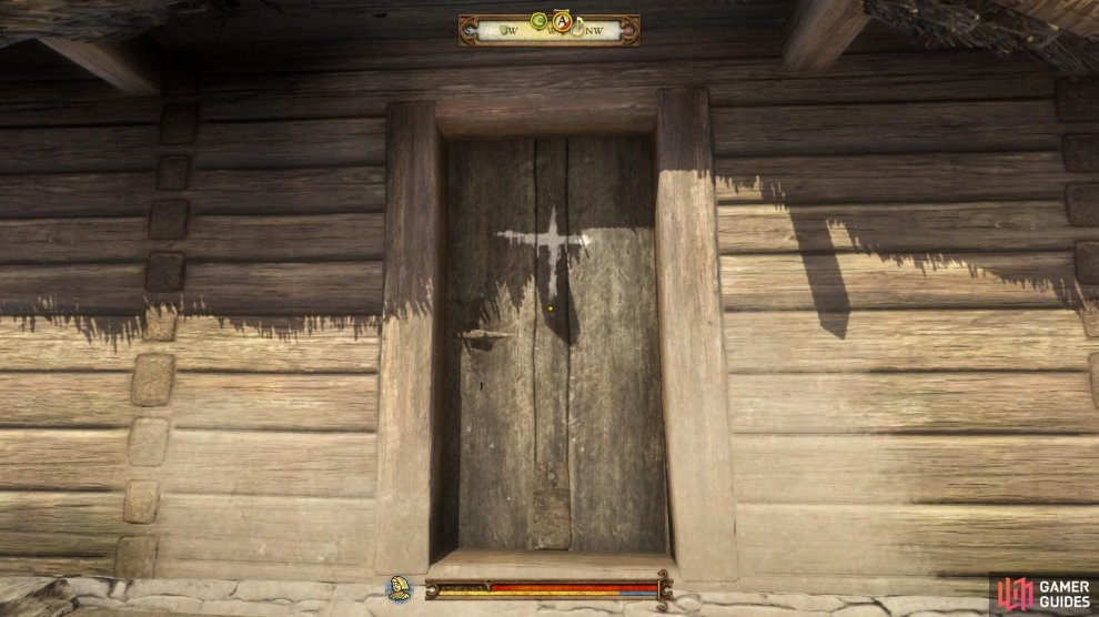 Visit houses with white crosses marked on the doors to learn how many people have been affected by the plague.