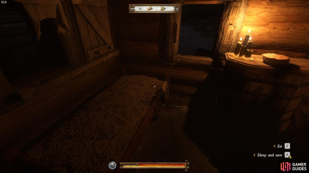 Example of a bed which Henry can use to save the game.