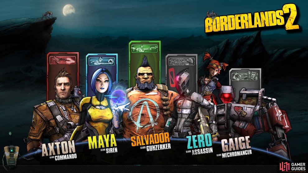 The characters of Borderlands 2.
