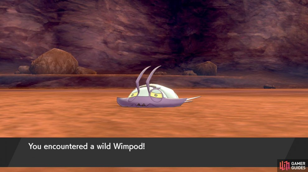 Wimpod will dart away if they see you. They'll also run off in battle after going below half HP. Use a Quick Ball!