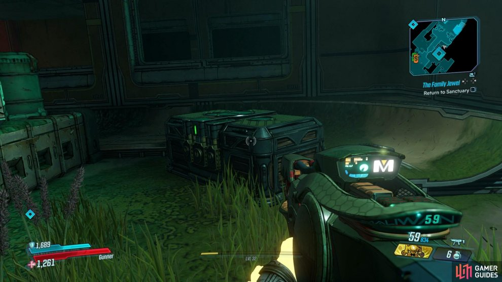 This chest can be found at the end of the Zone, after defeating the boss.