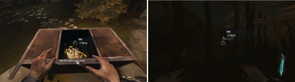 The two Runes underneath the Hounds Pit with the Weepers are easy to find. One's inside of the desk by the one Weeper (left) and the other's behind the large metal bar gate underwater (right).