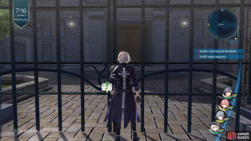 Go to the entrance of the School in Sankt District to begin this quest.