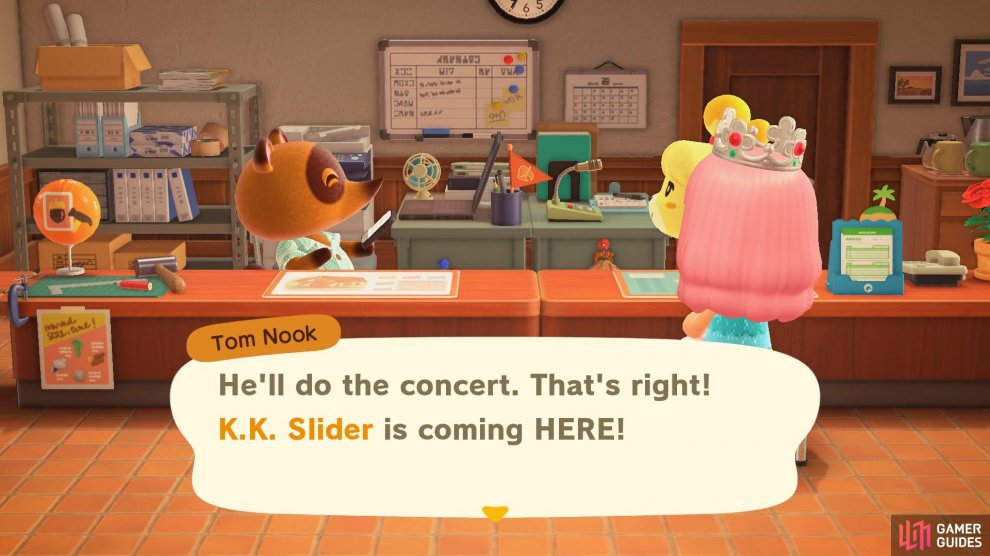 K.K. has agreed to play a concert for your island!