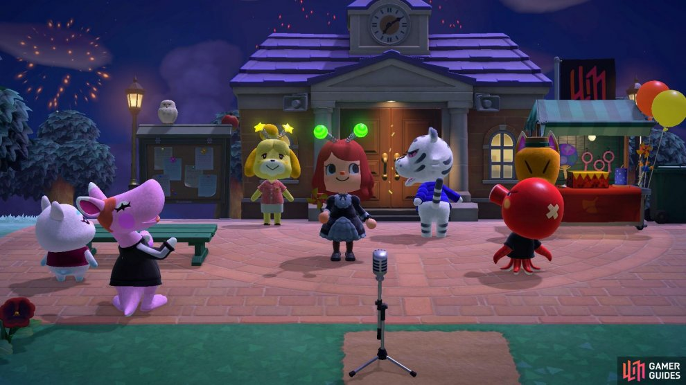 Lots of your villagers will be at the Plaza watching the show!