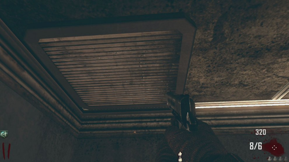 If you have managed to find the hatch upgrade for the bus and have a good chunk of money, rather than upgrading the bus, enter the diner and use the hatch on the ceiling near the perk-a-cola machine to gain access to the roof. Here you will find a chalk outline for the galvaknuckles (3000 Points). These may arguably be the best melee weapons in Zombie mode.