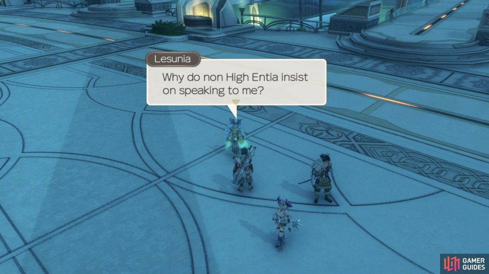 Lesunia will not speak with anyone but Melia, so make sure she's in the lead