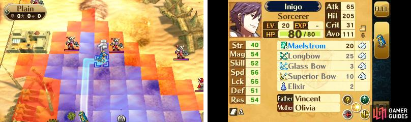 Inigo can move 6 spaces at most.