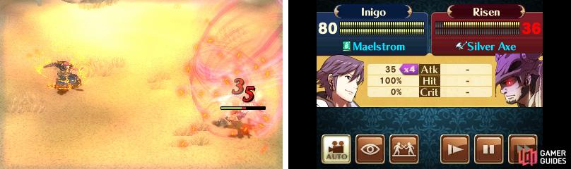 Archers and mages can attack from range, avoiding most enemy counter attacks.