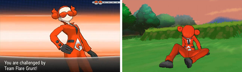 By now you should be finding these Team Flare Grunt battles fairly easy.