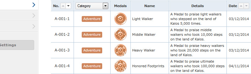 Medals can only viewed from the Pokemon Global Link website.
