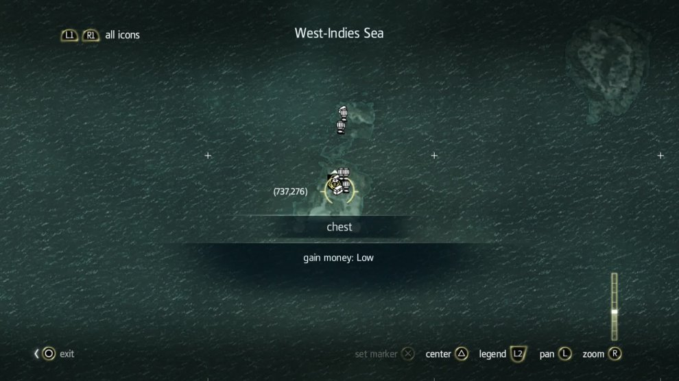 All treasure locations. The wreck is quite small but make sure to set waypoints to each chest to help you find it.