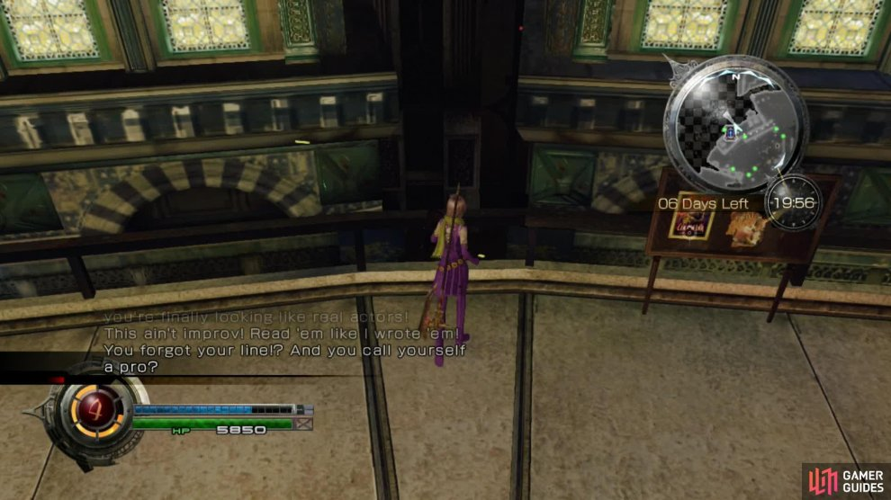 From the terrace where the Director is stood, jump down through this crack in the buildings and you can then access the treasure with the Demon Earrings.