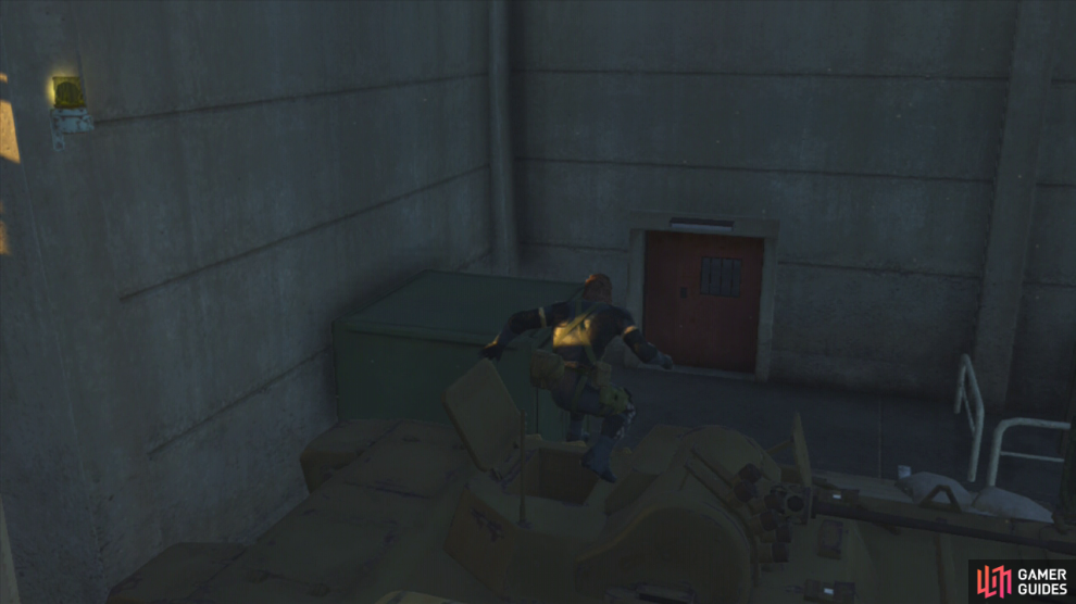 Park the tank so that you can use it as cover to enter the admin area undetected.