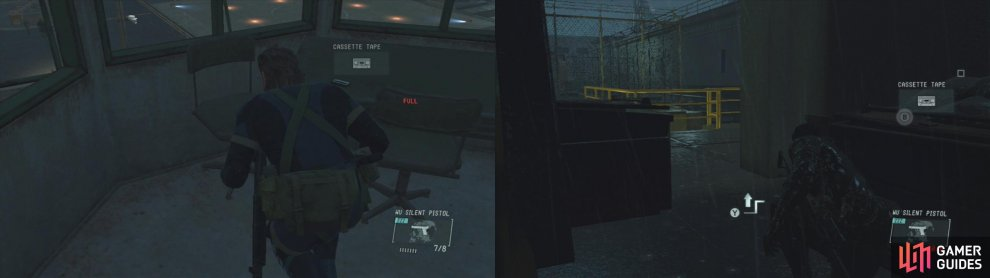 There are tapes in the main guard tower and in the dumpster in the alley near Paz (before resuing Chico) on the Ground Zeroes mission.