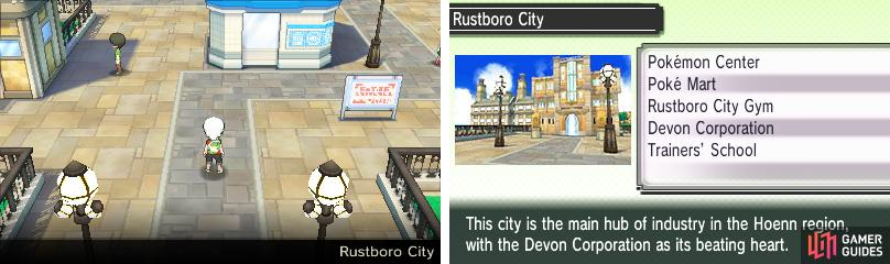 The industrial heart of Hoenn, home to the prestigious Devon Corporation.