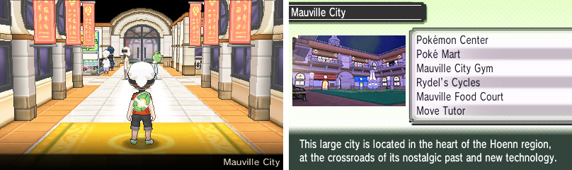 Mauville City has received a major revamp since the Ruby/Sapphire days.