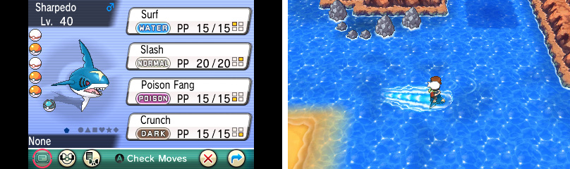 "After getting the Super Rod, you can find Sharpedo under the ""Feebas bridge"" in Route 119."