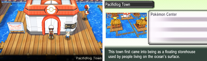 The final town before the Pokémon League, built floating over the ocean.