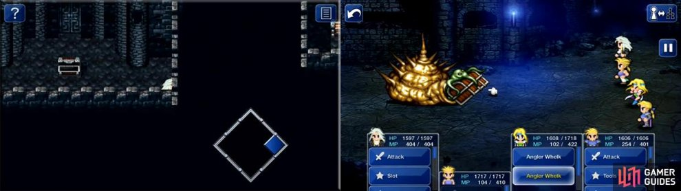 Walk into the wall as shown to reach the Growth Egg, a very useful relic. Later, the Angler Whelk offers a slight challenge but relinquishes the Dragon's Claws for Sabin!
