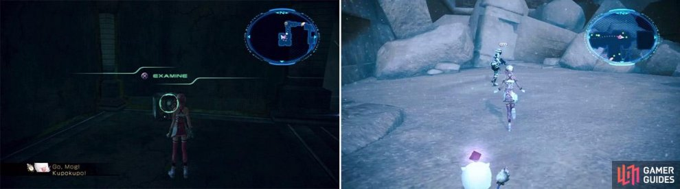 The recording device location (left). The Commander's location (right).