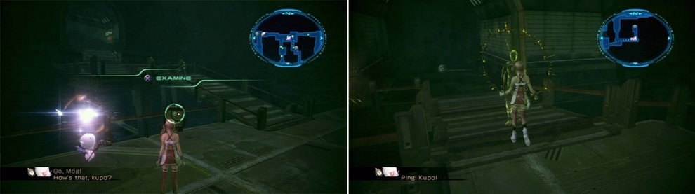 Location of the weapon materials (left). Assistant's Location (right).