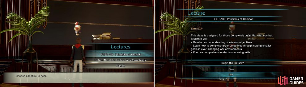 Moglin's lectures should be a priority every time you have Free Time. You earn some great EXP and upgrades for completing them.