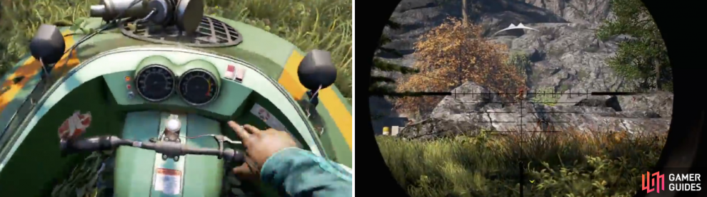 Grab the hovercraft (or the boat) and give chase, then kill all the enemies outside of the vault before going inside.