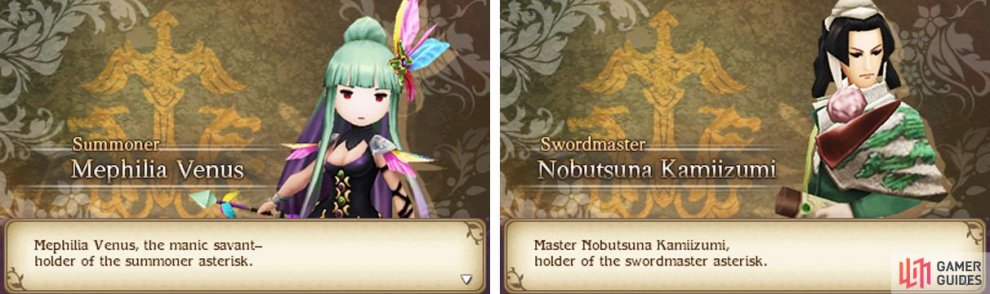 You'll have to pick between the Summoner and Swordmaster jobs this time.
