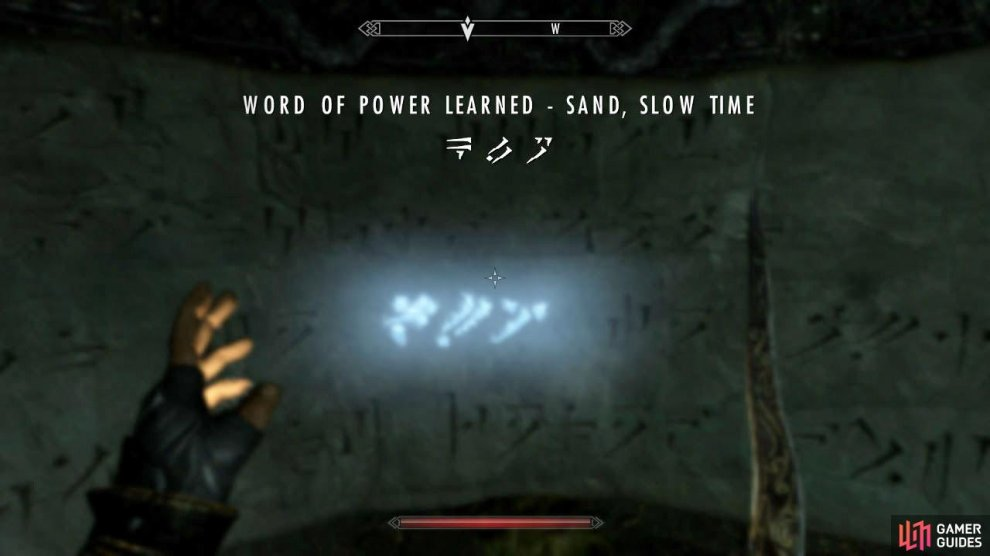 Approach the southwest corner to find another Word of Power: Time, Slow Time.  Note: If you already have TIME - SLOW TIME you'll just get a different word. This proves Dragon Walls don't necessarily have a specific word, just a specific shout.