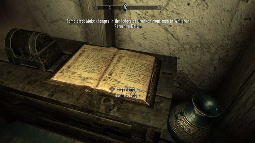This quest is given by Delvin Mallory. He will ask you to go change the numbers in a ledger at some RANDOM location in Skyrim. MANY, MANY businesses have ledgers in them, so you can be asked to go to a number of places...