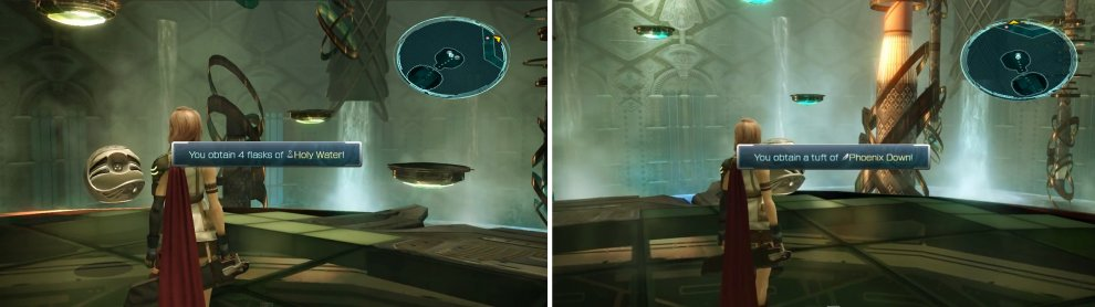 The secret area with the two Treasure Spheres.