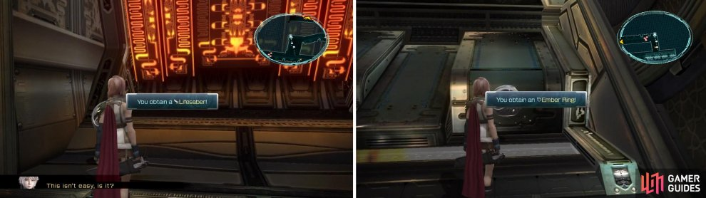Lifesaber (left) and Ember Ring (right) locations.