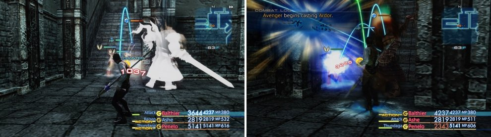 Avenger is a powerful Trophy Rare Game, with powerful physical attacks (left) and magicks (right).
